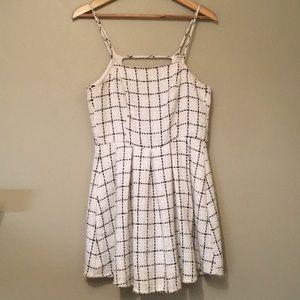 NWOT White checkered dress